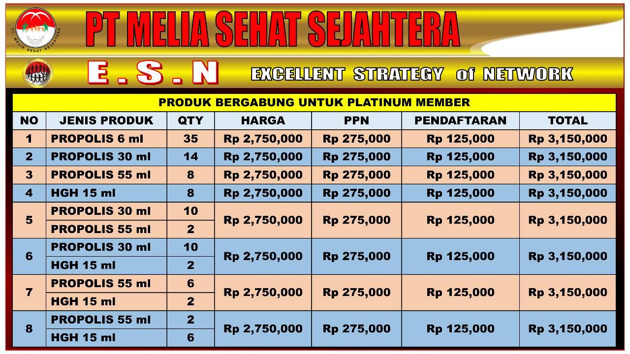 Biaya Daftar Paket Platinum MSS